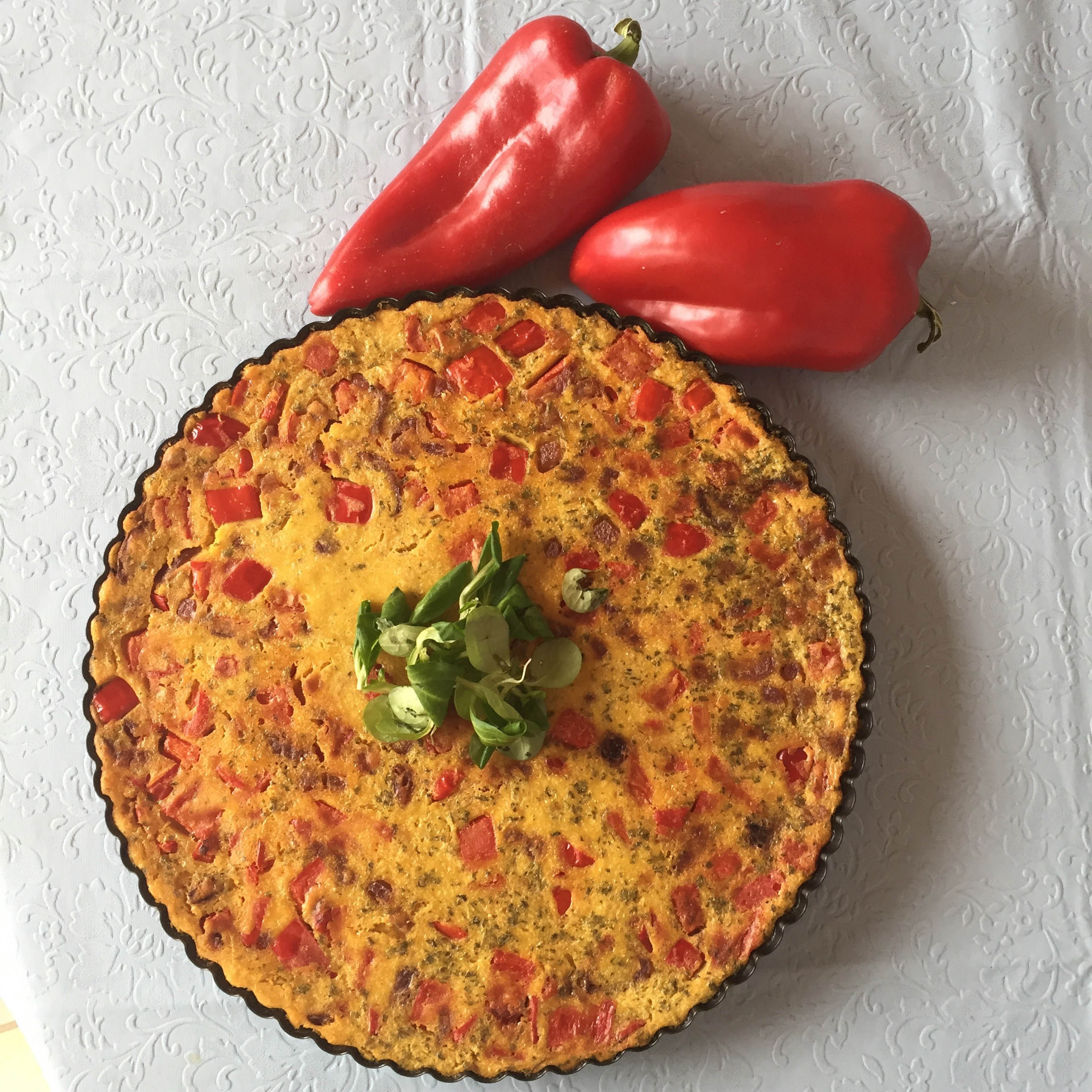Recipe: vegan frittata with peppers